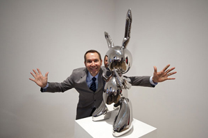 Jeff Koons et The Rabbit, 1986.